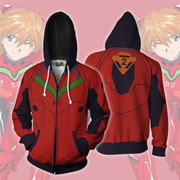 $enCountryForm.capitalKeyWord NZ - Anime EVA Asuka Langley Soryu 3D Printed Hoodies Tracksuit zipper Sweatshirts hooded hip hop tops Harajuku coats Custom logo