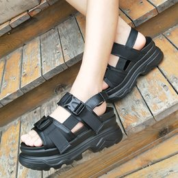 $enCountryForm.capitalKeyWord Australia - Bomlight Retro Punk Women Sandals Woman Shoes Buckle Platform Sandals Women Thick Sole Shoes Woman Slip On Sandalias Mujer 2019