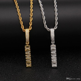 White Acrylic Cubes Wholesale Australia - Mini CZ Cube Iced Out Pendant Choker Chains Hip Hop Jewelry Designer Jewelry Mens Necklace Gold Chains for Men