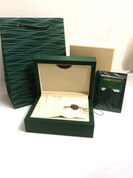 Luxury Square Watch Swiss Australia - New Luxury dark freen Watch Box Gift case for rolex watches booklet card tags and papers in english Swiss top brand watches boxes