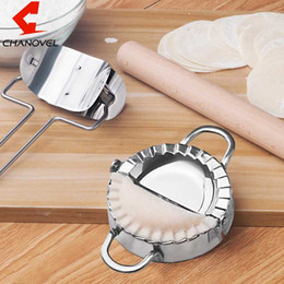 ravioli maker mold NZ - 2017 Kitchen Stainless Steel Dumpling Wraper Dough Presser Maker Mold Dough Cutter Pie Ravioli Dumplings Mould Pastry Tools