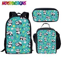 $enCountryForm.capitalKeyWord Australia - NOISYDESIGNS Kids Bag for School Cute Animal Panda Printing School Bags Children Primary Mochila Escolar Girls Shoulder Softback