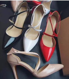 Red Bottoms Ladies Shoes Australia - Hot Sale-2019 Summer Style women's Lace Up Red Bottom high heels Pointed Toe Bandage Stiletto sandals celebrity ladies shoes Pumps