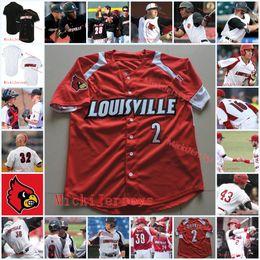 China Mens Custom Louisville Cardinals Baseball Jersey Dan McDonnell Zack Burdi Adam Engel Adam Duvall Brendan McKay Louisville Cardinals Jersey suppliers