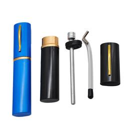 $enCountryForm.capitalKeyWord Australia - colorful mini protable metal blunt water pipe aluminum pen style smoking tobacco water bong pipe