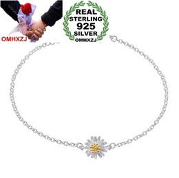 $enCountryForm.capitalKeyWord Australia - OMHXZJ Wholesale Fashion present High Quality 925 Sterling Silver small fresh Daisy Sunflower Gift Women Bracelets Bangles SZ28