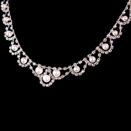 bridal jewelry drop necklace 2019 - Stylish Bridal Jewelry Sets For Women Temperament Crystal Necklace Drop Earring Set Wedding Accessories Jewelry Sets For