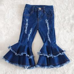 Wholesale jeans boutique resale online – designer hot sale baby girls designer pants boutique kids jeans toddler girls jeans bell bottom pants baby clothes girl pants