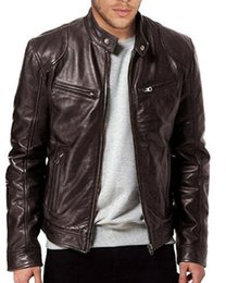 Wholesale slim fit genuine leather jacket resale online - Men Genuine Lambskin Leather Jacket BLACK BROWN New Fashion Man Winter Warm Slim Fit Zipper Biker Jacket Coat Streewear