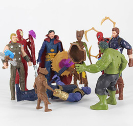 Red Hulk Figures Australia - Action Figures The Avengers 4 toys hand-made 14 squadrons Hulk Iron Man Captain Marvel,Thanos Captain America Red Spiderman Hulk