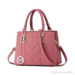 $enCountryForm.capitalKeyWord Australia - Womens Vintage Leather Tote Shoulder Bag For Women Crossbody Bags Ladies Designer Purse Black Red Grey Khaki Pink Purple