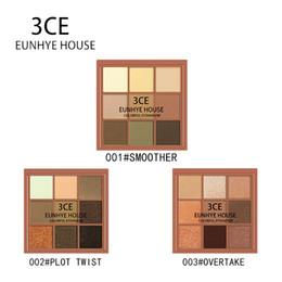 $enCountryForm.capitalKeyWord Australia - 3CE EUNHYE HOUSE 9 Color Matte Shimmer Glitter Easy to Wear Eye Shadow Palette Maquiagem For Women Girl Gift Eyes Makeup