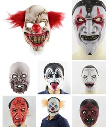 animal face masks Australia - Halloween scary animal props latex party masks unisex Clowns with rotten faces scary Halloween spooky show props wholesale and retail