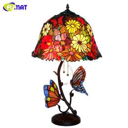 $enCountryForm.capitalKeyWord Australia - FUMAT Table Lamp Stained Glass Shade European Style Retro Butterfly Desk Lamp Hotel Bar Living Room Bedside Lamp LED Desk Light