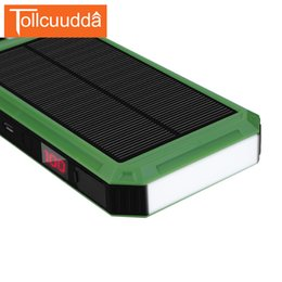 Power Bank External Battery Pack Charger Australia - Tollcuudda LCD Solar Power Bank 15000mAh External Battery Pack With Electric Cigarette Portable Charger Poverbank For All Phones