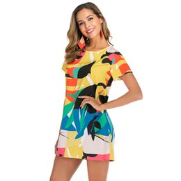 $enCountryForm.capitalKeyWord UK - Loose Dress Blouse Women Multicolor Print Boho Bohemian New Look Mini Casual Holiday Beach Vacation Fashion Dresses 6617