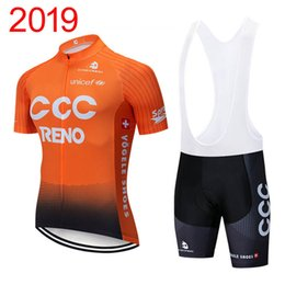Summer Sportswear Suit Australia - Summer Hot Sale 2019 CCC Team men's bike shirt bib shorts suit cycling Jersey outdoor sportswear breathable racing Bike clothing Y031905