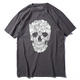 9264ce567a Mens luxury brand designer t shirts 100% cotton summer short sleeve men T  shirt casual punk cool skull print Tshirt funny tees pthd