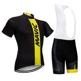 Bicycle Prices Australia - MAVIC team Cycling Short Sleeves jersey bib shorts sets Good quality and low price Men Bicycle Clothing c2401