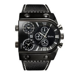 $enCountryForm.capitalKeyWord NZ - Oulm Sport Watch Men Quartz Analog Clock 3 Time Zone Sub-dials Design Big Case Oversize Fashion Black Wrist Watches Relogio MX190724