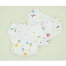 nappies covered Australia - Cotton Baby Nappies Diaper Waterproof Newborn Infant Traning Panties Diapers Pocket Reusable Washable Cloth Diapers Nappy Cover