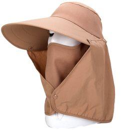c7414ca251d2e Summer Women Sun Hat Removable Neck Face Flap Farmer UV Protection Cap for  Outdoor Fishing IK88
