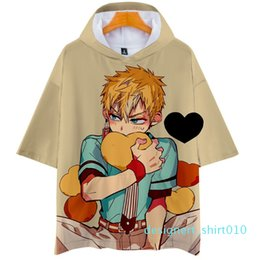 japanese summer clothing UK - Japanese Harajuku Hooded T Shirt Anime Toilet Bound Hanako Kun Tshirt for Men Women Kid Clothing Summer Cute Kawaii Tee Tops d10