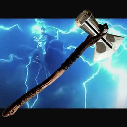 $enCountryForm.capitalKeyWord NZ - New Vintage Thor Hammer Marvel Movie The Avengers 3 Thor Hammer Cosplay PVC Action figure Toy 73cm