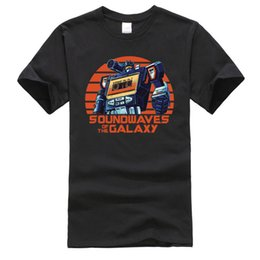 Galaxy tape online shopping - Retro Soundwaves of Galaxy Cassette Tape Funny T Shirt Robot Hiphop Miami Classic Tshirts Men Cotton Tops Tees