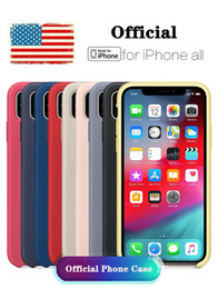 original case apple for iphone NZ - Original Official Case Apple LOGO iPhone Case For iPhone Xs Max XR For iPhone 6 7 8 Plus For Apple Cases Retail Box