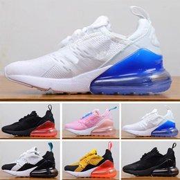 cheap for discount 2e4b1 47174 Nike air max 27c Nouveaux enfants 270 chaussures enfants Pour enfants bébés  garçons filles 27C coussin noir blanc orange vert rose chaussures Eur28-35