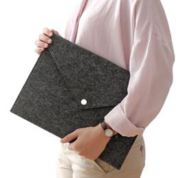 School File Holder NZ - A4 Size Felt Fabric File Bag Office School Stationery Paper Documents Holder Cheap File Pocket Storage Bag