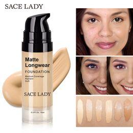 $enCountryForm.capitalKeyWord NZ - SACE LADY 15ML Foundation Base Makeup Professional Face Matte Finish Liquid Make Up Concealer Cream Waterproof Natural Firm No PoresCosmetic