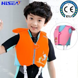 BaBy swim jacket online shopping - Hisea Y Baby Swim Vest Life Jacket Kids Surfing Rafting Boating Fishing Infant Toddler Children Swimming Accessories