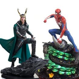 $enCountryForm.capitalKeyWord Australia - Marvel Comics spiderman Loki Ragnarokr action figure 25cm Avengers Loki Action Figures toy Anime figure Toys For Kids gifts