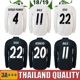 Real Madrid EA Sports Long sleeve Soccer Jersey 2019 champions league 10  MODRIC 12 Marcelo  20 ASENSIO ISCO Away Coral red Football uniform 0a6a2dcff