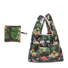 Foldable Flats Wholesale UK - Foldable Ladies Shopping Bag Eco Reusable Animal Print Tote Fold Away Bag