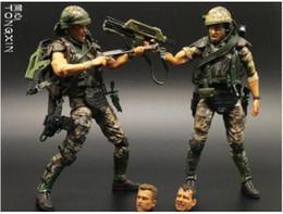 Discount predator figures - 7 Inch Alien VS Predators Warrior Mercenaries Soldiers Weapons Moving Doll Model NECA Toys Action Figure T69