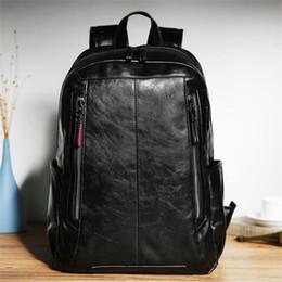 $enCountryForm.capitalKeyWord Australia - Factory wholesale brand male bag fashion leather double shoulder knapsack college wind large capacity backpack leisure Korean Travel Backpac