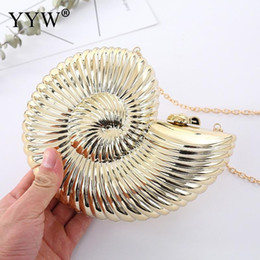 Discount silver clutch purse for wedding - Gold Sliver Fashion Evening Clutch Women Chain Sling Shell Bags Party Wedding Crossbody Bags For Women Small Cute Purse