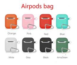Best White Bags Australia - Best selling color Airpods Bluetooth wireless headset set with hook storage bag