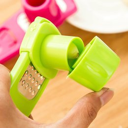 magic cutter 2020 - Candy Color Kitchen Accessories Plastic Ginger Garlic Grinding Tool Magic Silicone Peeler Slicer Cutter Grater Planer HO