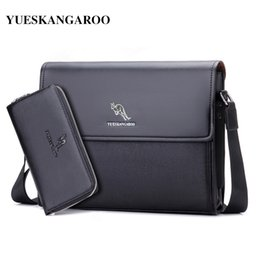 Discount kangaroos brand leather bag - YUES KANGAROO Brand Leather Men Bag Business Shoulder Bag Casual Mens Crossbody Messenger for A4 Document Briefcase Bols