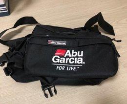 Waist Lure Australia - wholesale Fishing Waist Tackle Bag Waterproof Waist Shoulder Pack Case Reel Lure Line Hook ABU GARCIA Waist Bag Pockets Fishing Tackle