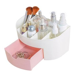 Office Drawer Box Australia - Hoomall Makeup Organizer Casket Drawer Plastic Cosmetic Storage Box Jewelry Box Home Office Desktop Sundries Container