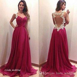 $enCountryForm.capitalKeyWord UK - 2019 Fuchsia Colour Prom Dress Beautiful For Sale Chiffon Long Special Occasion Dress Evening Party Gown Plus Size vestidos de festa