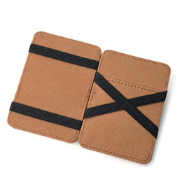 magic wallet brown Australia - New Fashion Creative Design Men Short Magic Wallet Pu Leather Coin Purse For Men Casual Credit Card Holder Male Clutch Pocket
