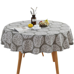 $enCountryForm.capitalKeyWord UK - 150cm Party Vintage Patio Washable Round Decoration Home Use Nordic Garden Printing Wear- Resisting Cotton And Linen Table Cloth