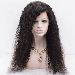 afro american human hair wig NZ - Glueless Lace Front Virgin Human Hair Wigs Afro Kinky Curly Free Part Middle Part 10-20 inch African American Front Lace Curly Wigs