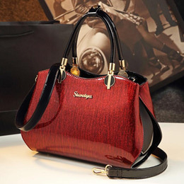 $enCountryForm.capitalKeyWord Australia - New bags for women patent leather handbags fashion bright leather shoulder bag ladies office work clutch bride red wedding tote